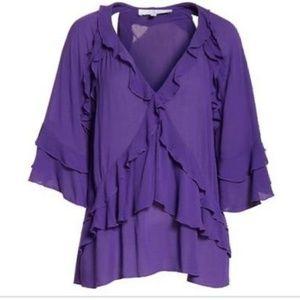 IRO Abby ruffle shirt